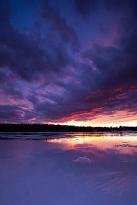 Maine Lake Photograph - Deep Freeze by Patrick Downey