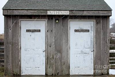 Photograph - Deep Hollow Ranch Outhouse by John Telfer