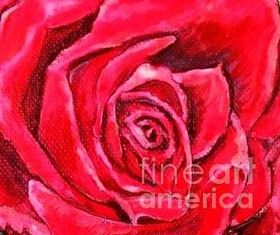 Painting - Deep Into The Heart Of A Rosebud Of Love by Kimberlee Baxter