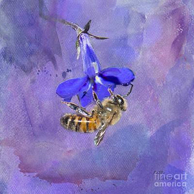 Deep In Purple Art Print by Betty LaRue