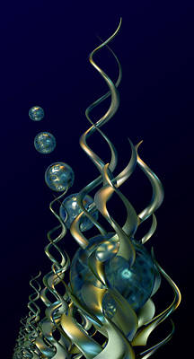 Swirling Digital Art - Deep In The Abyss by Hakon Soreide