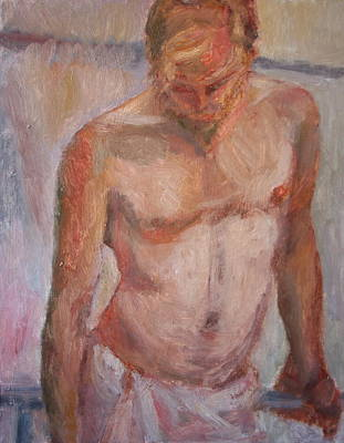 Painting - Deep In Thought - Original Impressionist Figure Painting by Quin Sweetman