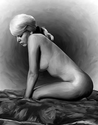 Sexy Painting - Deep In Thought by Shelby