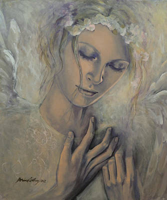 Angel Painting - Deep Inside by Dorina  Costras