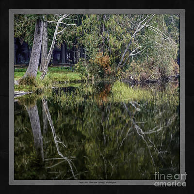 Water Photograph - Deep Lake Shoreline by Jean OKeeffe Macro Abundance Art