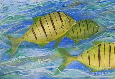 Painting - Deep Ocean by Anna Skaradzinska