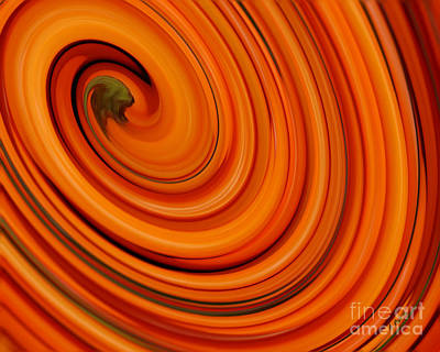 Deep Orange Abstract Art Print