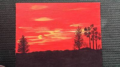 Deep Orange Sunset Original