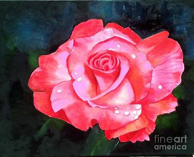 Painting - Deep Pink Rose by Elaine Callahan