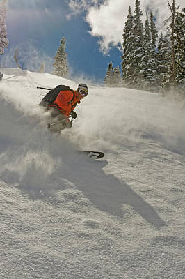 Black Diamonds Photograph - Deep Powder In The Wasatch Backcountry by Howie Garber