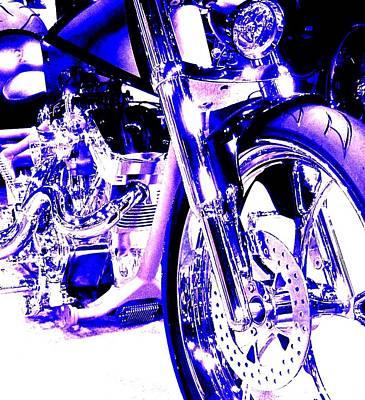 Deep Purple Art On Two Wheels Art Print
