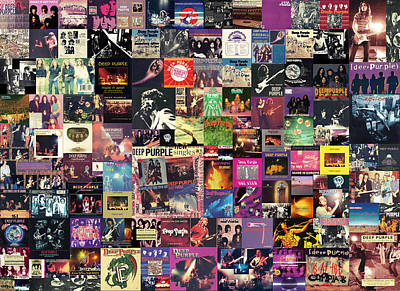 Music Digital Art - Deep Purple Collage by Zapista Zapista