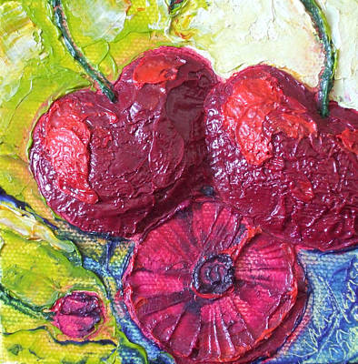Deep Red Cherries Print by Paris Wyatt Llanso