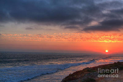 Photograph - Deep Red Sunset by Deborah Smolinske