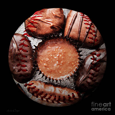 Deep Rich Chocolates Baseball Square Art Print by Andee Design