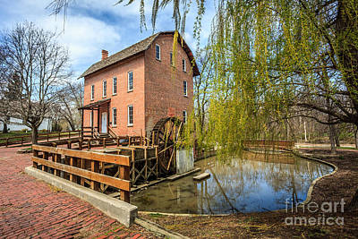 Brick Building Photograph - Deep River County Park Grist Mill by Paul Velgos