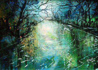 Deep River Pool Art Print