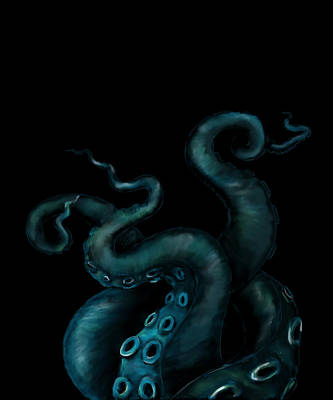 Digital Art - Deep Sea Tentacles by Sheryl Westleigh