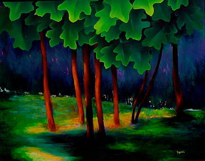 Painting - Deep Shadows by Karin Eisermann