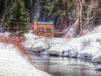 Deep Snow In Spearfish Canyon Art Print by Lanita Williams
