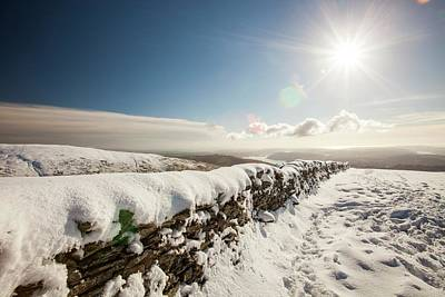 Scree Photograph - Deep Snow On The Fairfield Horseshoe by Ashley Cooper
