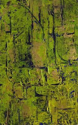 Deep South Summer Coming On - Panel II - The Green Art Print by Sandra Gail Teichmann-Hillesheim
