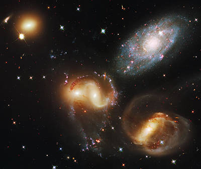 Science Fiction Photograph - Deep Space Galaxies by Jennifer Rondinelli Reilly - Fine Art Photography