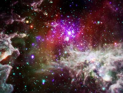 Nasa Images Photograph - Deep Space Nebula 1 by Jennifer Rondinelli Reilly - Fine Art Photography