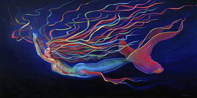 Deep Blue Painting - Deep by Susan Helen Strok