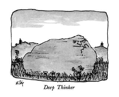 Pensive Drawing - Deep Thinker by William Steig