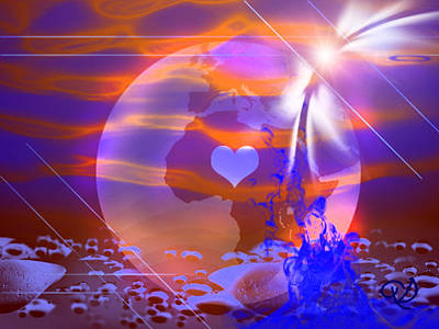Art Print featuring the digital art Deep Transformation by Ute Posegga-Rudel