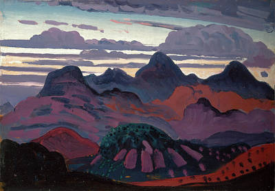 Dickson Painting - Deep Twilight, Pyrenees, James Dickson Innes by Litz Collection