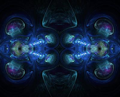 Fractal Geometry Digital Art - Deep Waters Abstract by Georgiana Romanovna