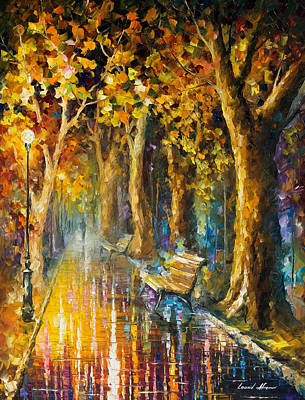 Deep Wisdom - Palette Knife Oil Painting On Canvas By Leonid Afremov Original by Leonid Afremov