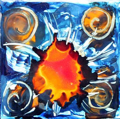 Ceramic Art Tile Painting - Deep Within by Judy Swircenski