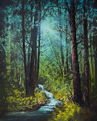 Steele Painting - Deep Woods Stream by Chris Steele