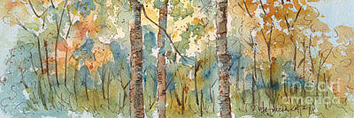 Cerulean Blue Painting - Deep Woods Waskesiu Horizontal by Pat Katz