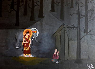Painting - Deepavali Night by Pratyasha Nithin