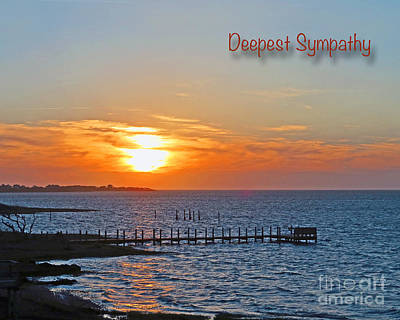 Photograph - Deepest Sympathy Sunset Greeting Card by Dawn Gari