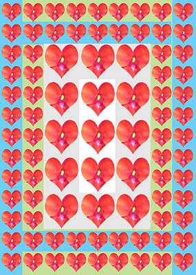 Painting - Deeply In Love Cherryhill Flower Petal Based Sweet Heart Pattern Colormania Art by Navin Joshi