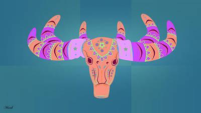 Deer 3 Art Print by Mark Ashkenazi