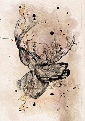 Humor Digital Art - Deer 4 by Mark Ashkenazi