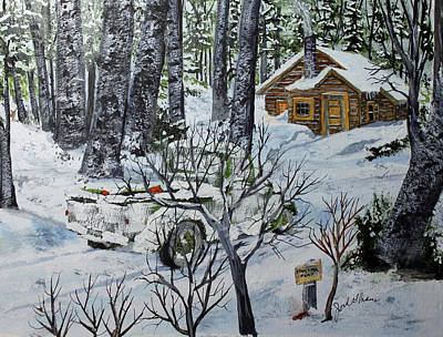 Deer Camp 141114 Art Print
