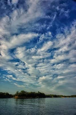 Photograph - Deer Creek Lake And Clouds by Beth Akerman