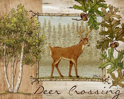 Deer Crossing Print by Paul Brent