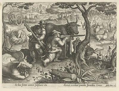 Camouflage Drawing - Deer Hunting Using Camouflage, Albert Flamen by Albert Flamen And Jacques Van Merlen