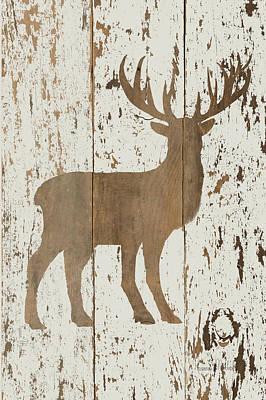 Reclaimed Wood Wall Art - Painting - Deer In Reverse by Ramona Murdock
