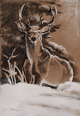 Deer In Snow Original