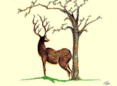 Deer Art Print by Len YewHeng