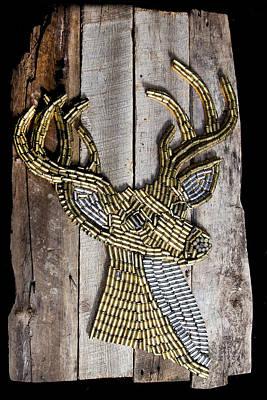 Deer Mounted On Re-claimed Barn Wood Original